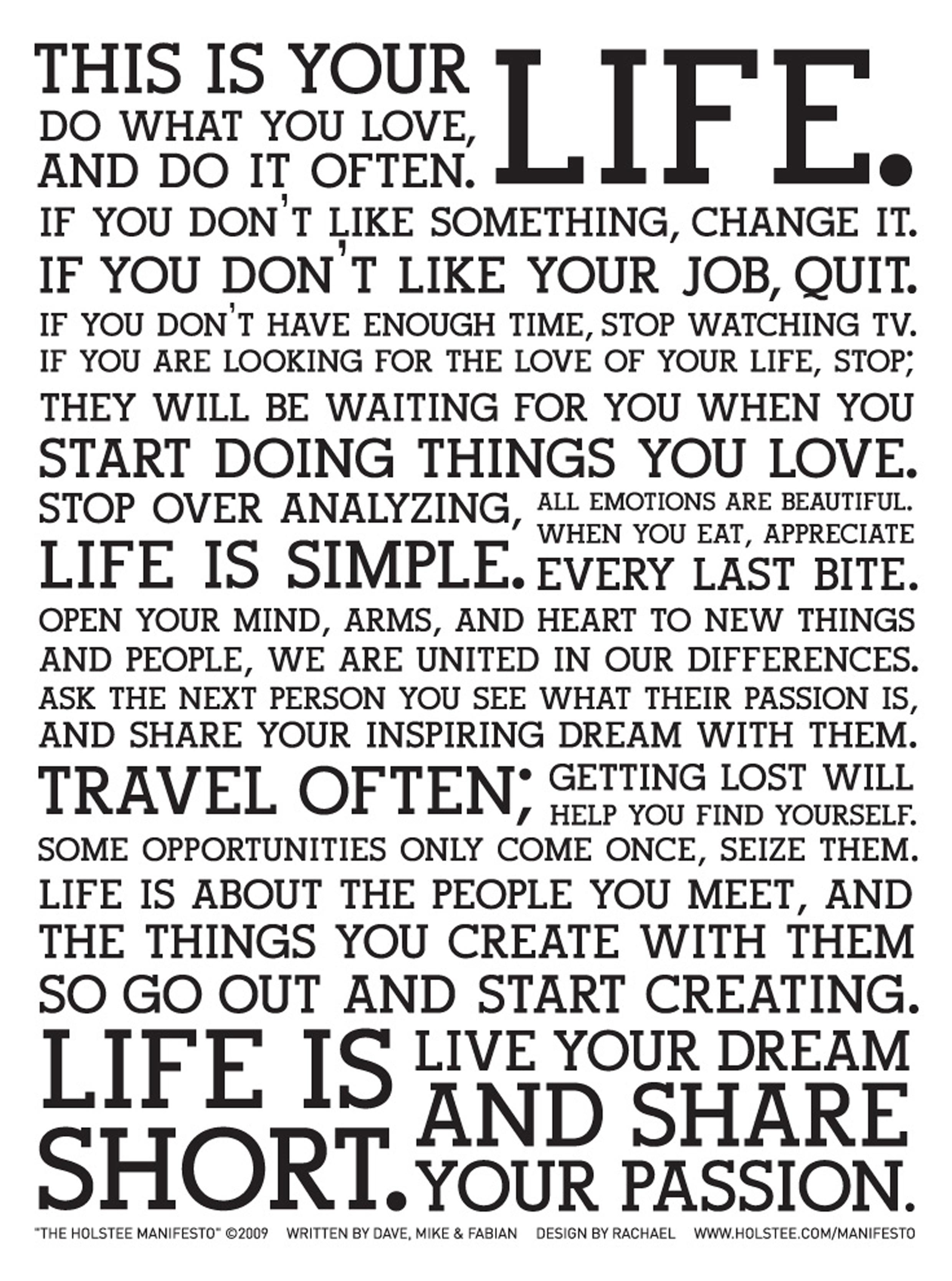 Semplici istruzioni d'uso... della vita!